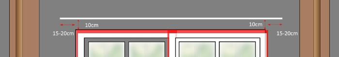 particolare montaggio bastone tende: le corrette distanze da finestra