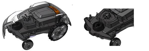 Schema meccanico robot rasaerba gardena