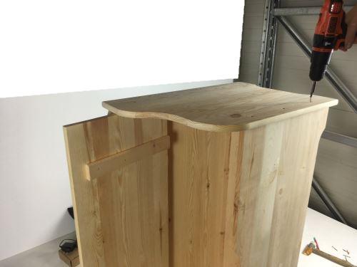 Fissaggio finale parete laterale legno