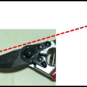 Testa di taglio inclinata della forbice Felco N.8