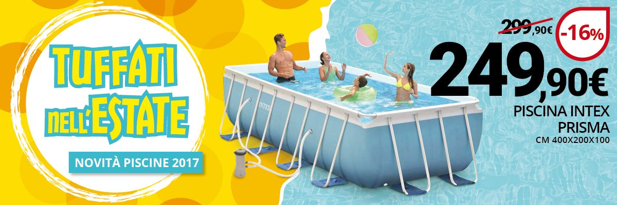 Promozione piscina prisma 400x200